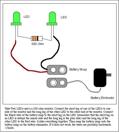 Wiring Diagram For Led Work Lights : L e d eyes for bucky